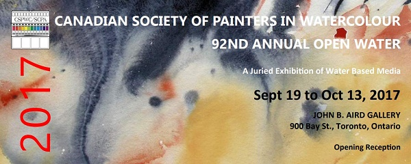 The Canadian Society of Painters in Watercolour - 92nd Annual Open Juried Exhibition